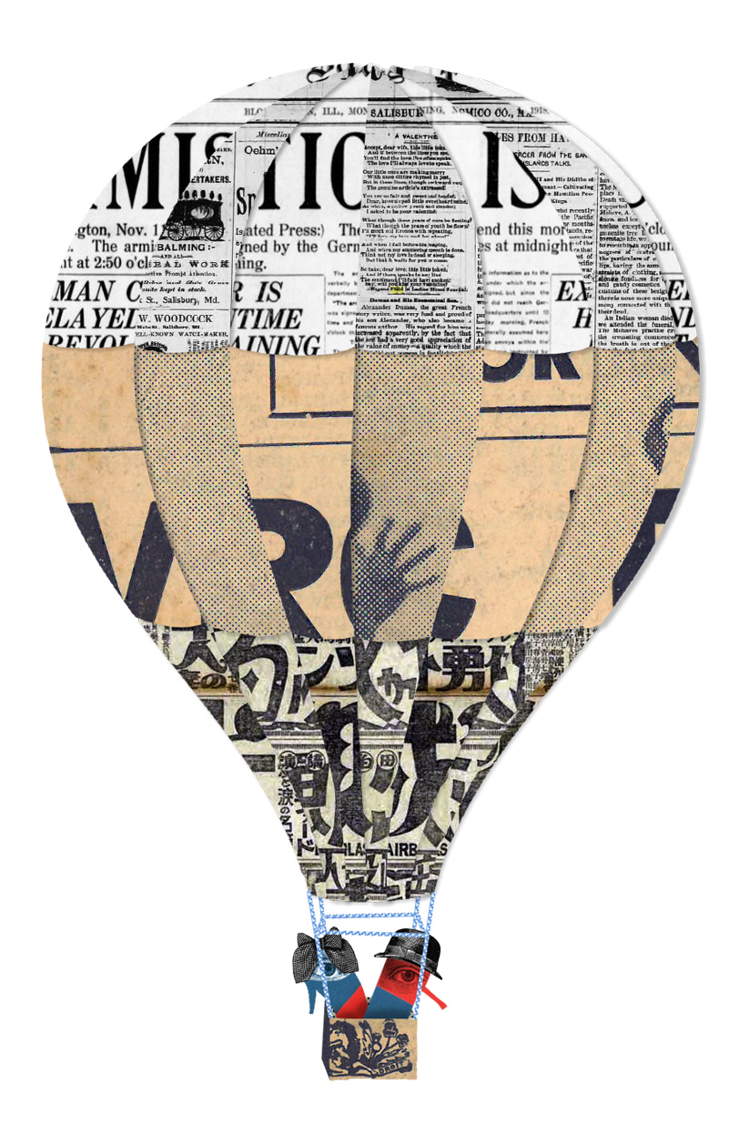 hot-air-baloon, POP-Tales, paolo fiorentini, art, illustration, collage